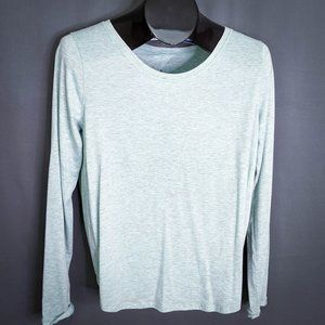 Lululemon Womens Top Shirt 12 Heathered Green